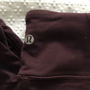 Lulu lemon burgundy leggings 8